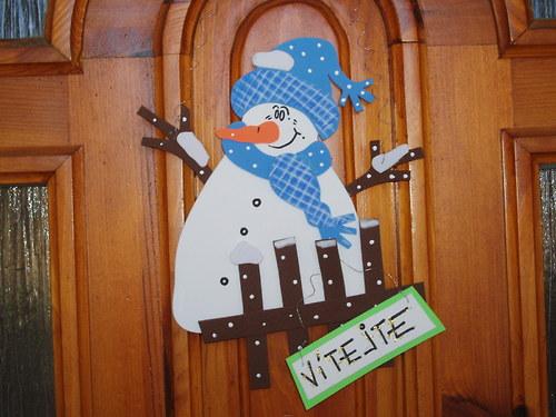 vánoční a zimní závěsná dekorace