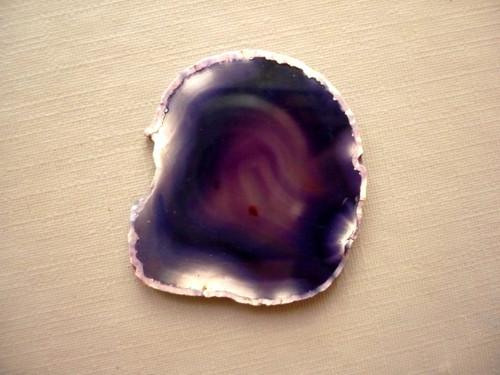 Achátový plátek fialový 30 mm, č.21