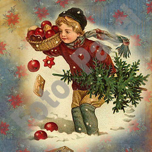 Vintage motiv - vánoce 30-2