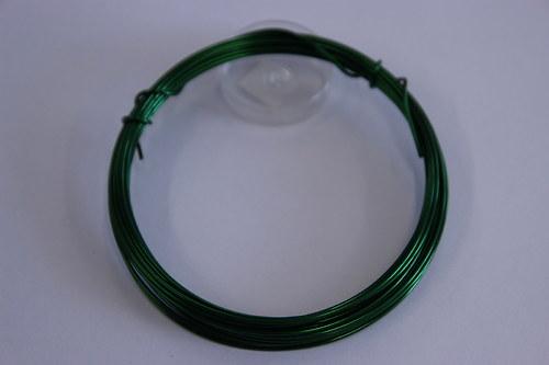 Měděný drátek 1mm - tm.zelený, návin 3,8-4m