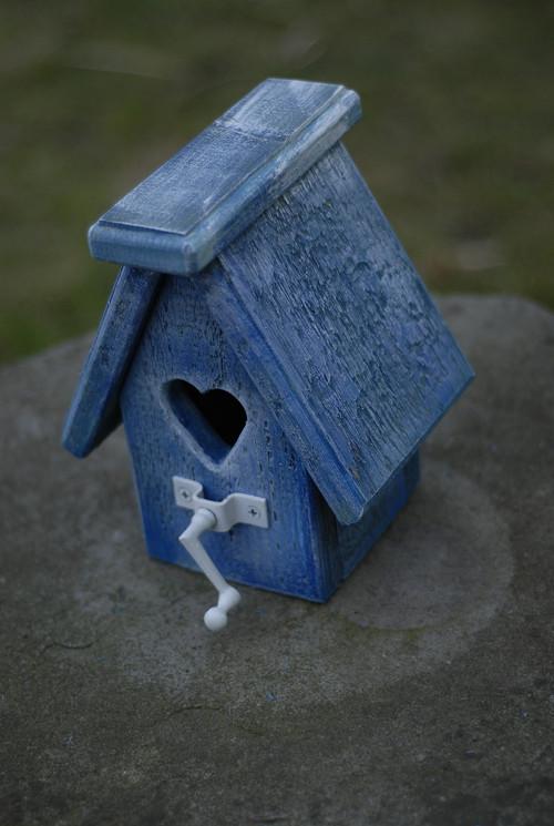 Ptačí budka malá - Modrá