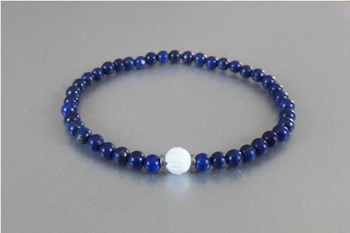 Náramek / Lapis lazuli / Korál /