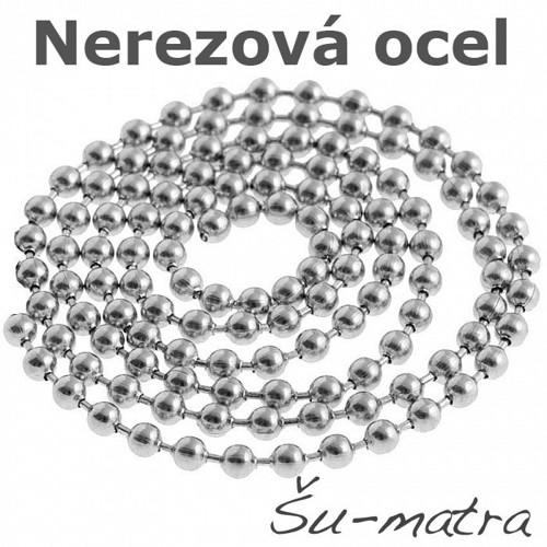 Řetízek z nerezové oceli, 2 mm (1 m)