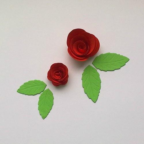 Výsek -  3D Růžičky  6ks