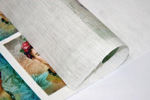 100% bavlněná látka 21,5x28 cm, k tisku v tiskárně
