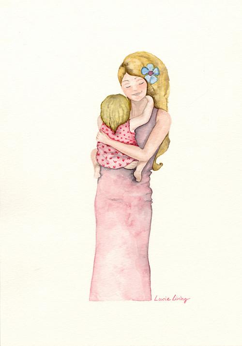Maminka v růžovém