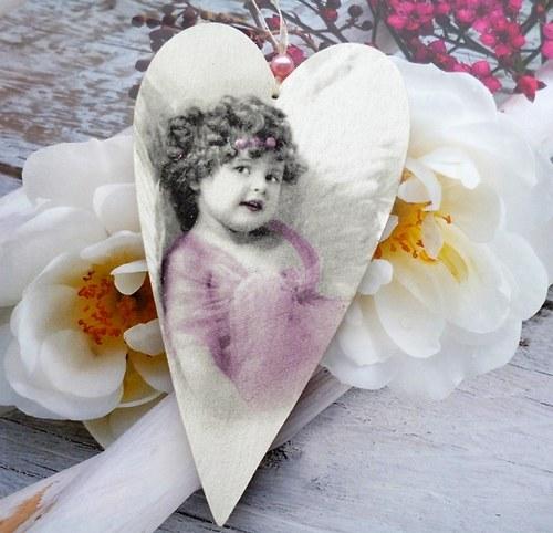 srdíčko velké - růžový andělíček...