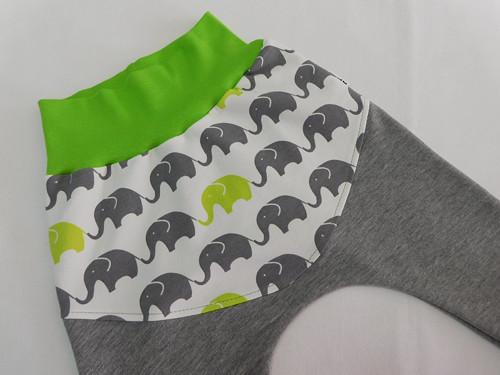 Baggy / tepláčky - Sloníci se šedou 68 - 80