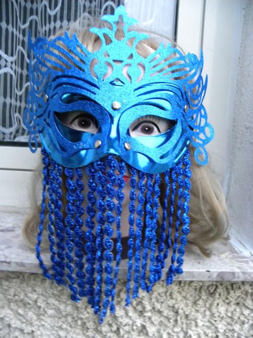 na nádherný MAŠKARNÍ  PLES  modrá maska 145.-
