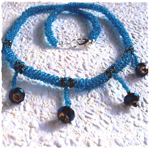 Azurový svět...náhrdelník