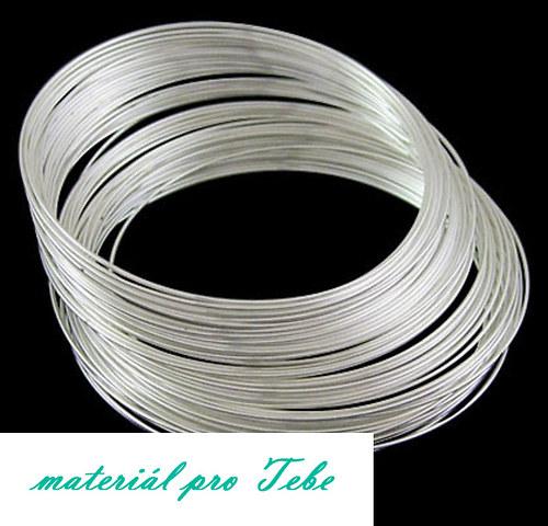 Paměťový drát - kvalitní ocel - 10 ot. - stříbrný