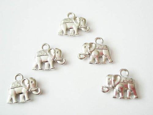 Přívěsky sloníků 2 ks