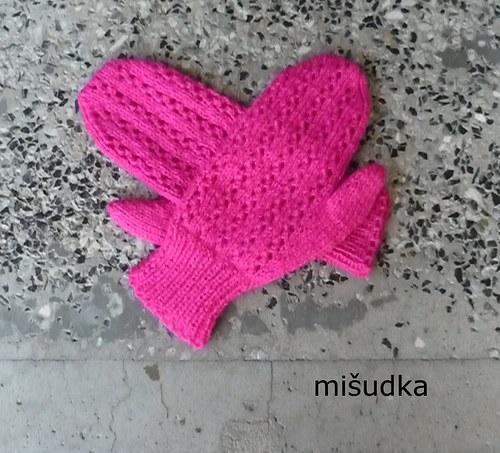 Rukavice jako od maminky - růžové 1