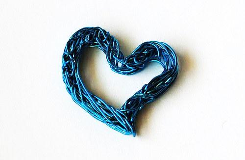Srdíčko z drátu - sv.modré
