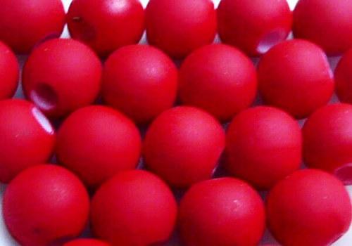 Pogumovaná kulička 6 mm - červená / 10 ks