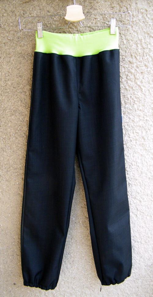 Softshellové kalhoty ČERNÉ 140/146