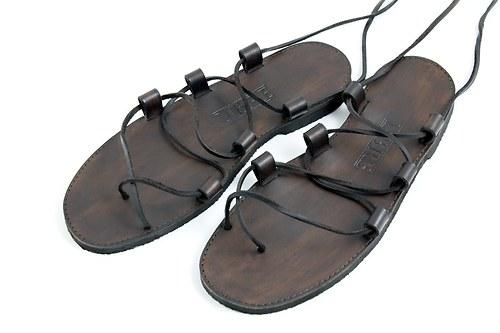 Kožené sandále Gladiator