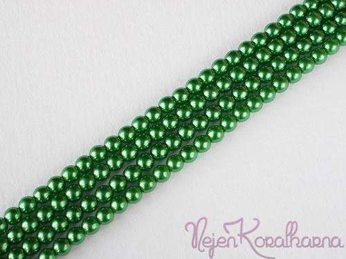 Voskové perle zelená 4mm