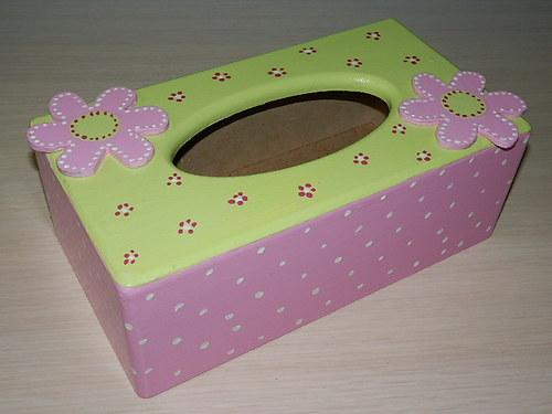 Krabička na kapesníky Kytičková něha