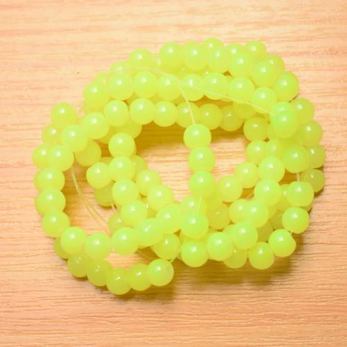 Skleněné korálky - imitace jadeitu - 6mm