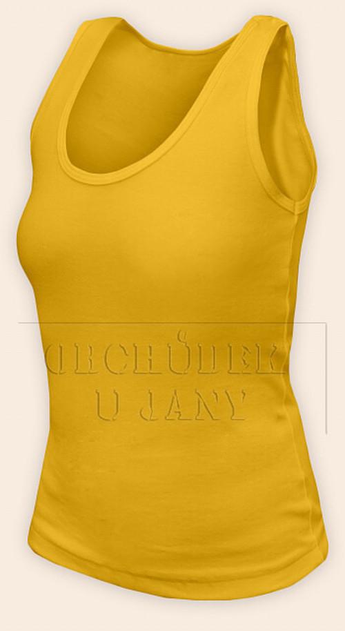Dámské tílko žluté