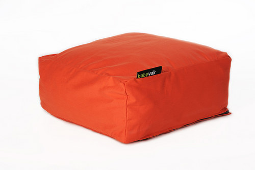 Relaxační pytel čtverec - oranžový
