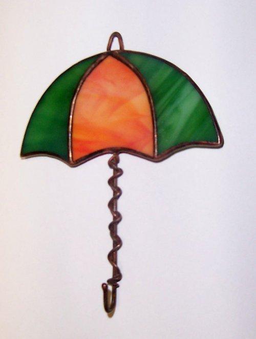 Věšáček s vitrážkou ve tvaru deštníku