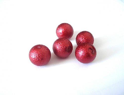 Perle voskové červené 16mm