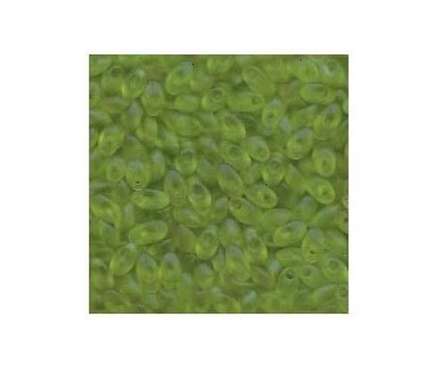 Miyuki Long Magatama, světle zelená matná - 5g