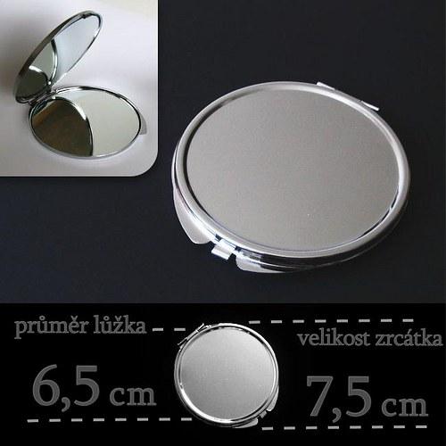 Kosmetické zrcátko s lůžkem o průměru 6,5 cm