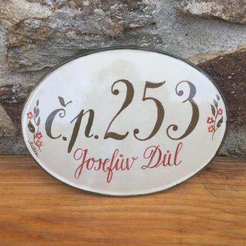 Kameninové domovní číslo - Josefův Důl