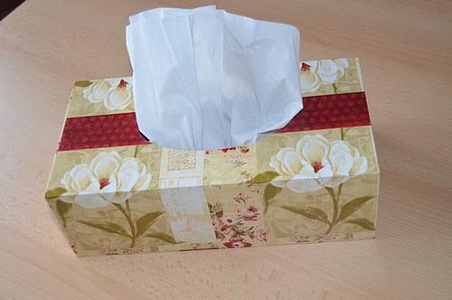 Krabička na kapesníky - růžička