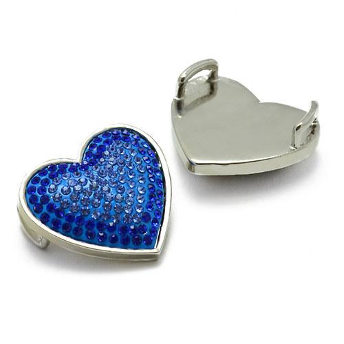 Modré srdce 30x30mm