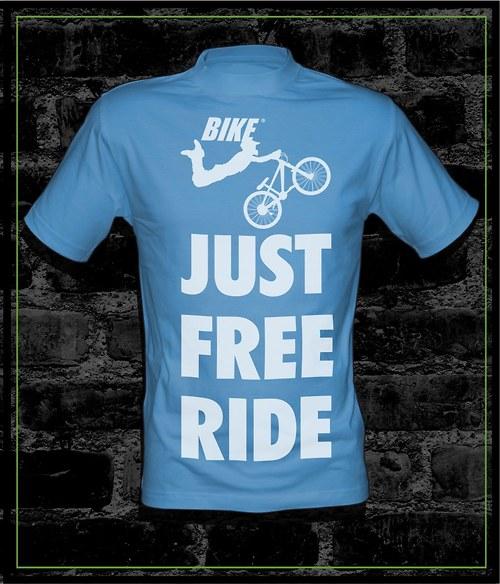 Pánské modré tričko Bike