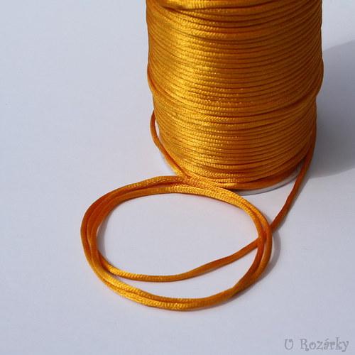 Satén.šňůrka Ø 2mm, žlutooranžová - cena za 3 m!