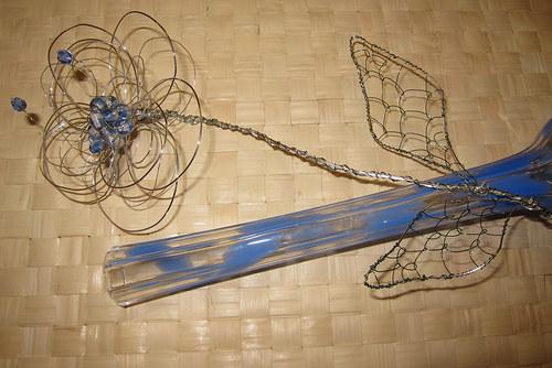 Drátovaná květina v 3D provedení - a neuvadne! :)