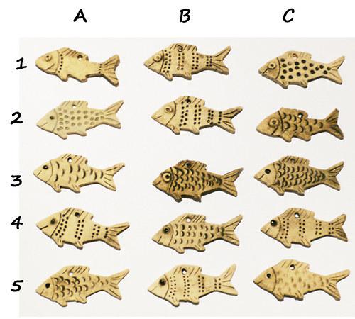 Rybičky z šamotové hlíny