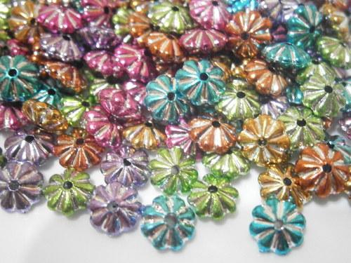 Barevné rondelky plast 6x4mm - MIX (20ks)