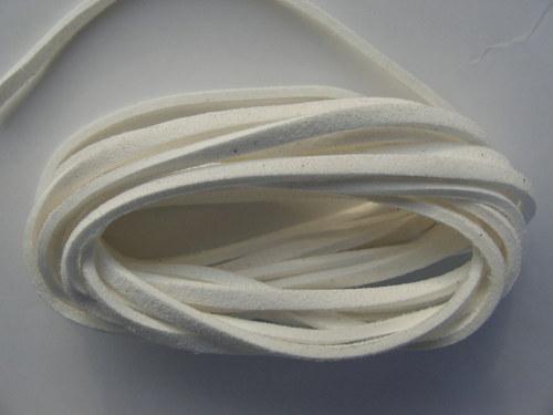 Imitace kůže, bílá 3 mm