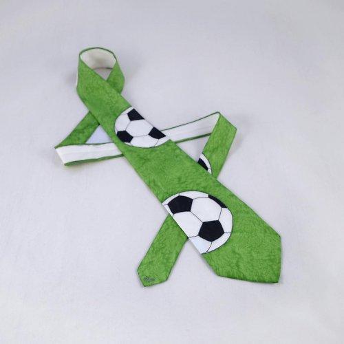 Fotbalová kravata - zelená