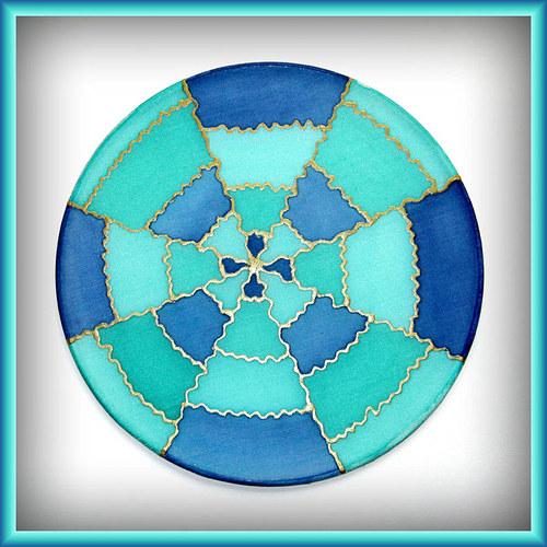 Modrozelená mandalka