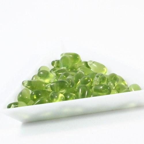 Kapky 10 x 5 mm olivínové  110 g VÝPRODEJ