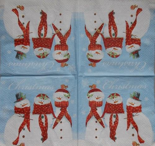 Vánoční - sněhuláci A 225