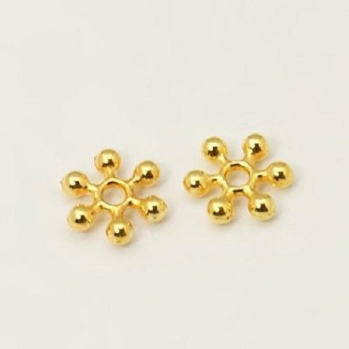 Květ s rameny 10 ks - barva zlatá