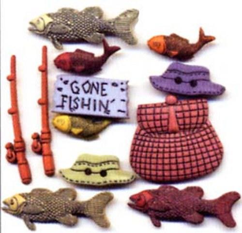 Plastové knoflíčky - Fishing