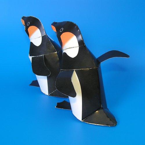 Tučňák - vystřihovánka - autorská grafika