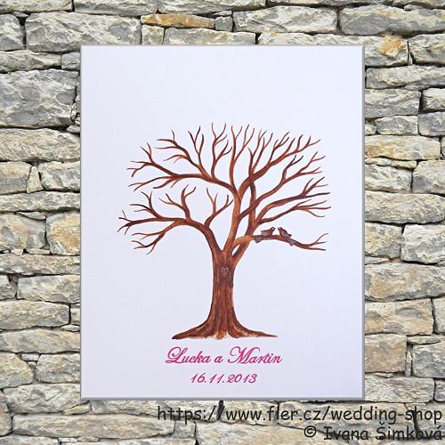 Svatební strom hostů  č.4 - 40x50
