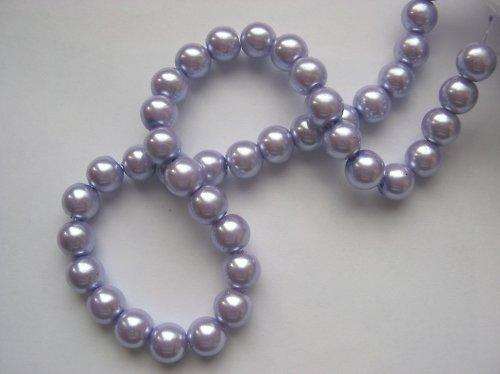 Voskované perly 0,8 cm - fialové (10 ks)