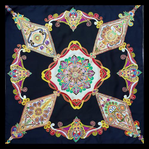Folklórni hedvábny šátek- Goralské doliny