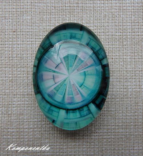 Kabošon ornament 18x25mm 1kus